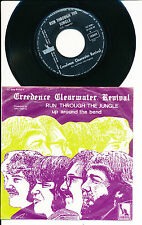 """CREEDENCE CLEARWATER REVIVAL 45 TOURS 7"""" BELGIUM UP AROUND THE BEND"""
