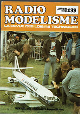 REVUE RADIO MODELISME N°133  1978  VOIR SOMMAIRE   vintage model magazine