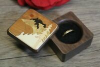 Ring Box Jewelry Gift Wedding Proposal Engagement Mountain 6 Handmade