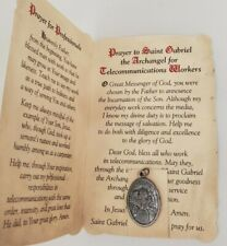 St. Gabriel the Archangel (Telecommunications Workers) holy card and medal