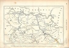 Carte Guerre des Balkans Serbie Herzegovine Monténégro Bulgarie GRAVURE 1876