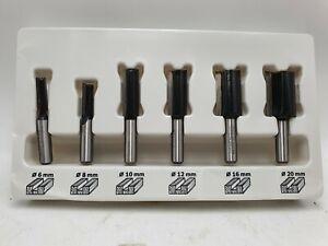 Fräsersatz Holzbearbeitung Schlitz Gerade 8mm Griff Holzfräser Schaft 6mm~20mm