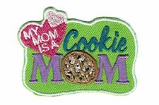 Girl MY MOM is A COOKIE MOM Patches Crests Badges SCOUT GUIDES Word Troop Fun