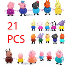 21 PCS Peppa Pig Family Friends Teacher Figure Set Playset Toy Set