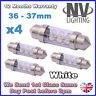 4x 36mm 37mm NUMBER PLATE INTERIOR LIGHT FESTOON BULB 6 LED XENON WHITE 239 272