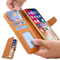For iPhone XS 6s 7 8 Plus Card Holder Wallet Flip Leather Stand Phone Case Cover