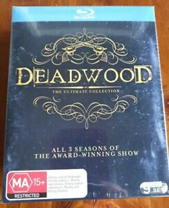 DEADWOOD COMPLETE SERIES 1 2 3 BLU-RAY seasons one two thee REGION B collection