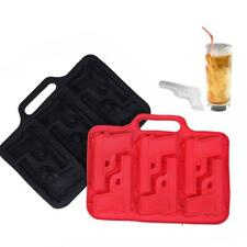 Gun Pistol Ice Cube Chocolate Soap Tray Mold Silicone Party Maker