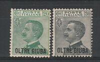 FRANCOBOLLI 1925 REGNO OLTRE GIUBA C. 20+30 MLH Z/4224