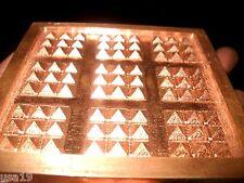 Orgone Amplifier Copper Pyramid Grid Energy Beamer Plate