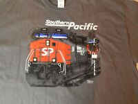 Southern Pacific Men's T-Shirt Locomotive Train Size 2XL Railroad Collectible