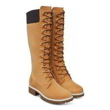 Timberland 14 Inch Tall Womens Waterproof Wheat Black Nubuck Boots Size 4-8