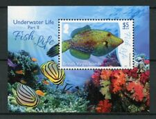 British Virgin Islands BVI 2017 MNH Underwater Life Pt 2 Fish Life 1v M/S Stamps