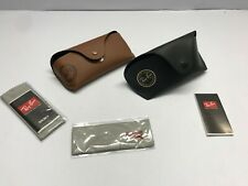 LOT 2 Case Ray Ban Sunglasses Eyeglasses Large Black Small Brown