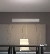 LED Linear Pendant Light 45W WHITE Hanging or Surface Mount Ceiling 72x50x1500mm
