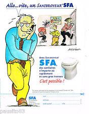 PUBLICITE ADVERTISING 065  2002  SFA  sanibroyeur par