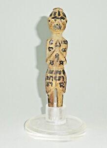 19C Myanmar Shaman Magic Talisman Painted Wooden Figure Carving (Mil) M989