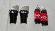 Lot of 4 Vintage 1993 Coke & Coca Cola Refrigerator Magnets