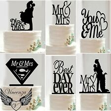 Acrylic Wedding EngagementAnniversary Occasion Party Cake Topper Pick Decoration