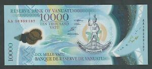 VANUATU 10000 VATU  2010 POLYMER P-16 UNC
