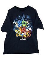 Walt Disney World Disneyland Resort 2014 T Shirt 2XL Mickey Pluto Goofy Donald