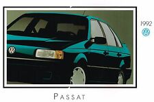 1992 Volkswagen VW Passat Catálogo / Catalog con Tabla de Colores: Cl,Gl,Wagon ,