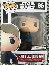 Funko Pop Star Wars Han Solo en Snow Gear lootcrate Vinilo Figura Juguete