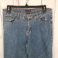 Playboy Womens Jeans Size 11 High Rise Bootcut Jeans Denim Stretch Vintage Blue