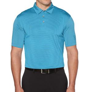 PGA TOUR Golf Shirt Mens Small or Medium New Blue Striped Sun Protection Polo