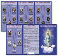 Hail Mary Our Father Prayers How to Pray the Rosary Pocket Tri Fold Instruction