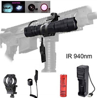 Zoomable 850 Presque comme neuf IR vision de nuit infrarouge DEL Lampe de Poche Torche Light Ghost Hunting