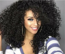 Black Women Density Brazilian Remy Curly Hair Wigs Plucked Full Lace Human Wig