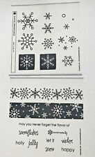 """PAPERTREY INK  """"RUSTIC SNOWFLAKES"""" RETIRED- NEW"""