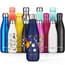 Proworks Midnight Blue Planet Water Bottle Pattern Stainless Steel Drink Flask