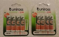 Uniross AA 2100 mAh HYBRIO 8 x Pre Charged Rechargeable Batteries NiMH - HR6 LR6