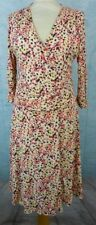 LA FEE MARABOUTEE Robe Taille 2 - Fleurs - Manches 3/4 - Stretch - Italie