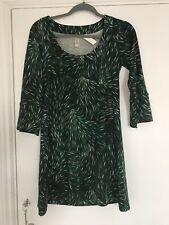 Diana Von Furstenberg vintage tunic Leatitia dress short fur forest green size 2