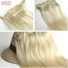 15-30Inch Clip In Human Hair Extensions Full Head 140g 180g Thick 7pc All Colors