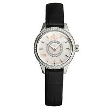 Christian Dior Women's Montaigne Leather Strap Diamond Quartz Watch CD151110A001