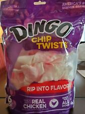DINGO CHIP TWISTS - Dog Treats, 8.5oz / 16 Pieces - Condition Is New