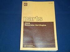 CAT CATERPILLAR 3508 GENERATOR SET ENGINE PARTS BOOK MANUAL S/N 70Z1-UP (5SA)
