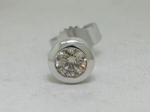 Single Brillant Ohrstecker 1 Brillant 0,21carat 585 Weißgold 14Kt Gold Ohrring
