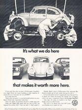 1972 VW Volkswagen Beetle Bug Original Advertisement Print Car Ad J536