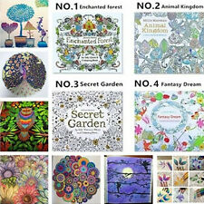 Children Adult Puzzle English Secret Garden Decompression Coloring Painting Book