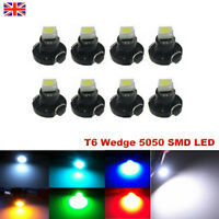 10X T6 5050 SMD Wedge Car LED Bulbs Dashboard Gauge Instrument Lamps Rear Lights