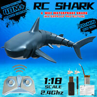 Radio Remote Control Electronic Shark Fish Boat Durable 4 Channel Underwater Toy