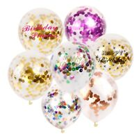 10pcs 12'' Foil Confetti Latex Balloons Helium Wedding Birthday Party Decor
