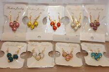 9pairs Mix colours wholesale Joblot Clay pave Rhinestones earrings & Pendant set