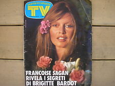 SORRISI E CANZONI TV #14 1975 BRIGITTE BARDOT SAGAN VANNA BROSIO ZECCHINO D'ORO
