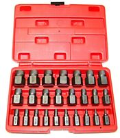 25 PC SCREW EXTRACTOR SET MULTI SPLINE REMOVE BROKEN STUDS PIPES SCREWS FITTINGS